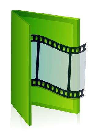 illustration of movie folder Stock Vector - 8247229