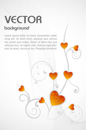 illustration of vector background ,heart Stock Vector - 8247877