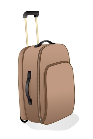 people traveling: illustration of trolley bag with white background