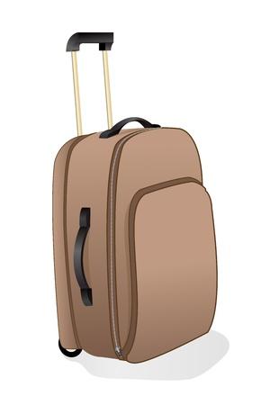 packing suitcase: illustrazione della Valigia trolley con sfondo bianco Vettoriali