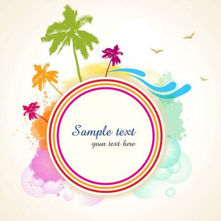 illustraton of colorful nature card Stock Vector - 8248217