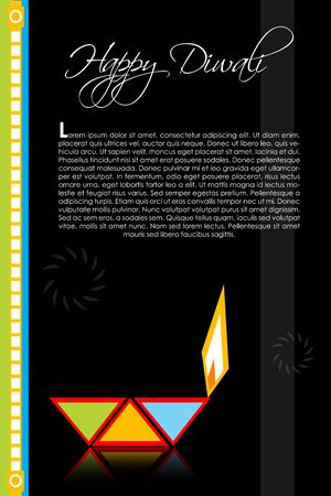 dipawali: illustration of diwali with lamp Illustration