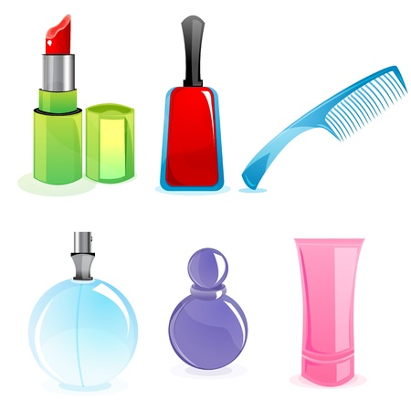illustration of cosmetics set Vector