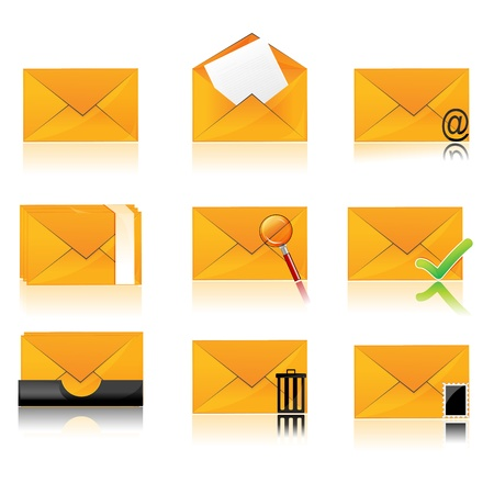 illustration of collection of different folder icons Vector