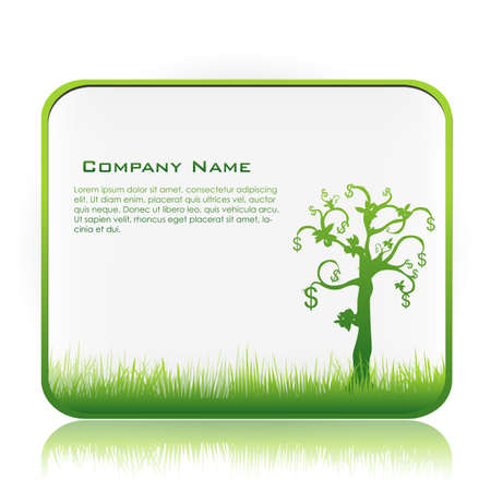 illustration of business template with money tree Vector