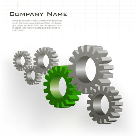 construction team: illustration of cog wheels showing team work
