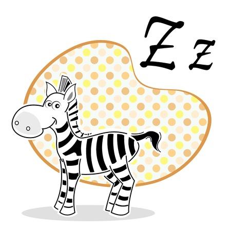 herbivorous animals: illustration of zebra