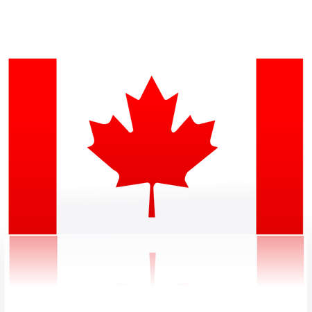 illustration of Canadian flag Vector