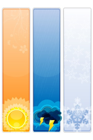 illustration of types of weather Stock Vector - 8247744