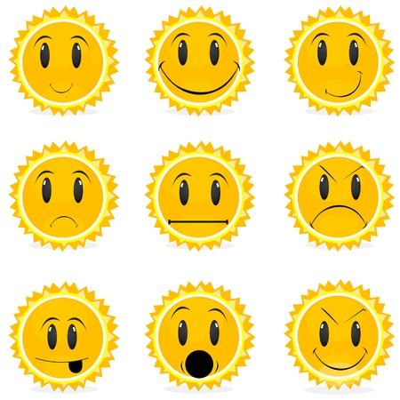 illustration of kinds of moods Vector