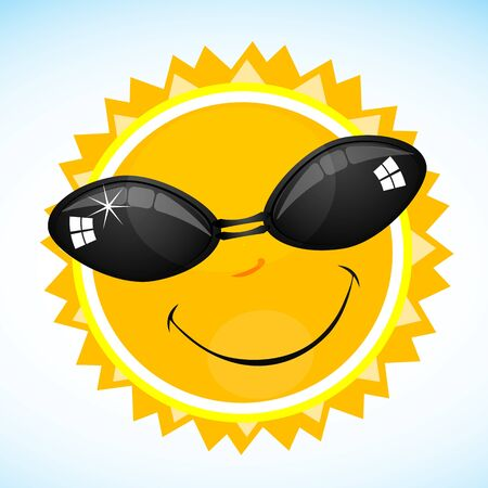 illustration of cool smiling sun Stock Vector - 8247061