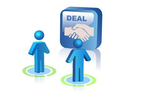 manos unidas: Ilustraci�n de acuerdo entre dos personas