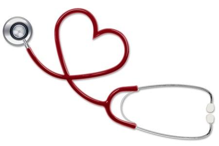 estetoscopio corazon: Ilustraci�n de estetoscopio haciendo en forma de coraz�n