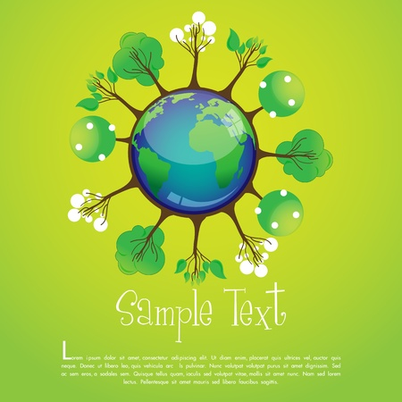 illustration of global recycle Stock Vector - 8247251
