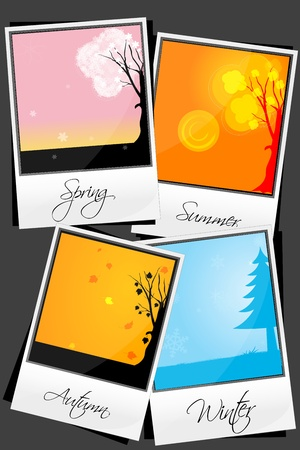 illustration of types of season Vector
