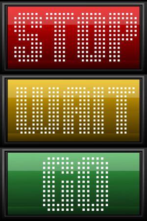traffic signal: Illustration de feux de circulation Illustration