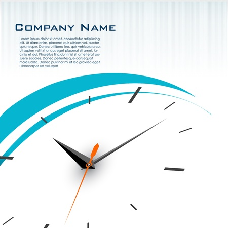 appointments: illustration of business card with watch Illustration