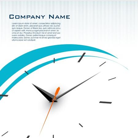 Ilustración de la tarjeta de presentación con reloj