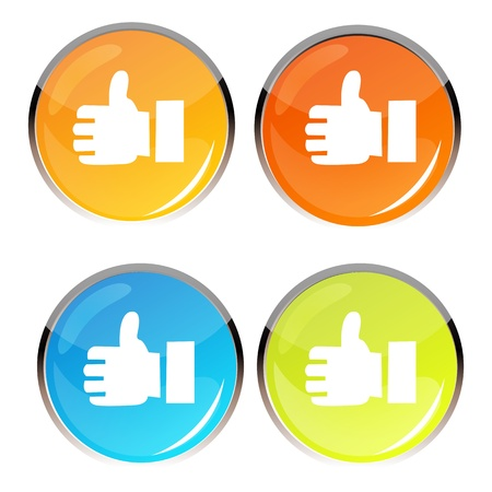 illustration of thumbs up symbol on white background Vector