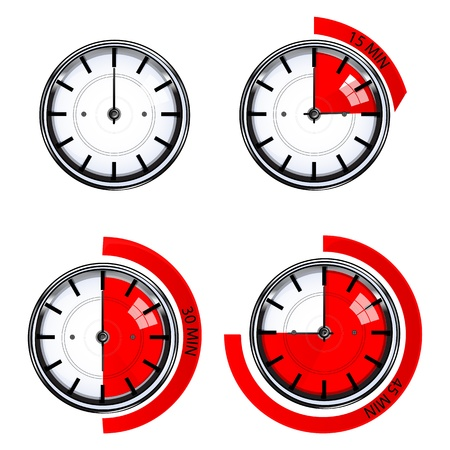 illustration of function of watch Stock Vector - 8248174