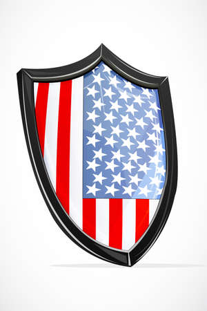 illustration of usa shield on white background Stock Vector - 8247360