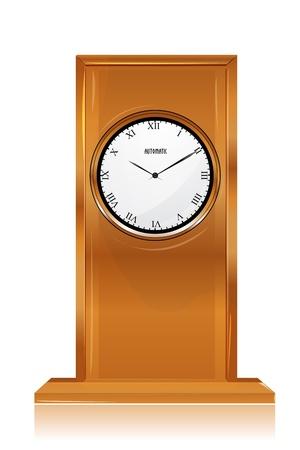 illustration of clock on white background Stock Vector - 8247236
