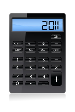 subtract: illustration of calculator on white background