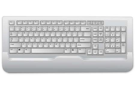illustration of keyboard on white background Stock Vector - 8248097
