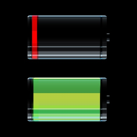 illustration of battery icon Vector