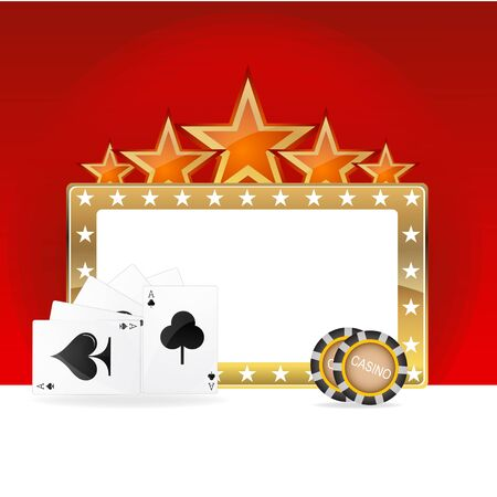 illustration of casino icons Vector