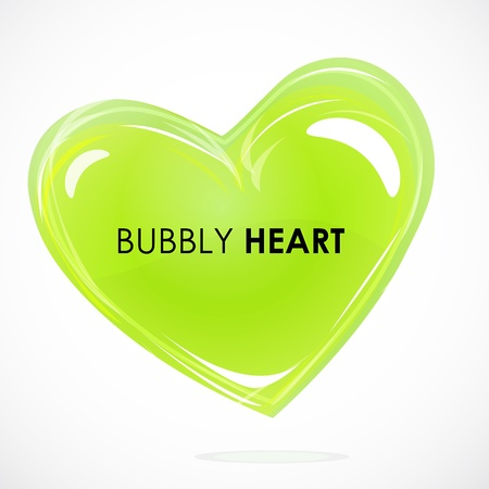 bubbly: illustration of bubbly heart on white background