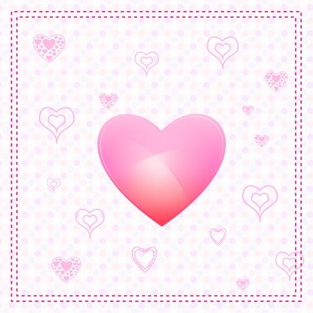 truelove: illustrazione della carta di San Valentino con cuore
