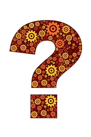 question icon: illustration of question mark icon on white background