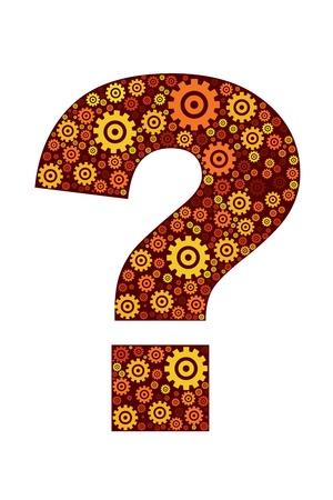 punctuation mark: Ilustraci�n del icono de signo de interrogaci�n sobre fondo blanco