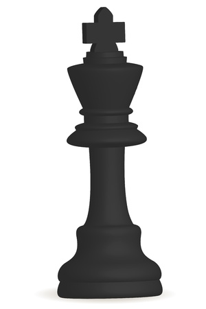 bishop chess piece: illustration of chess  king icon on white background
