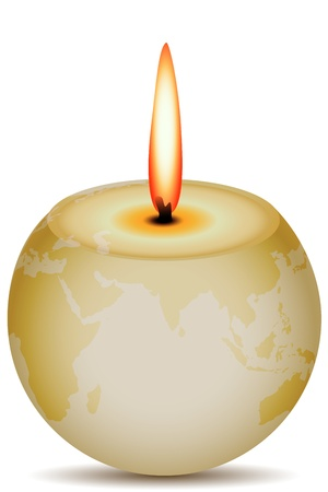 illustration of burning globe on white background Vector