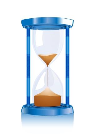 reloj de arena: Ilustraci�n de la Guardia de la hora en fondo blanco Vectores