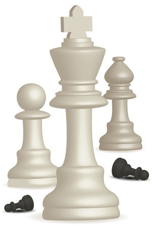 illustration of chess game on white background Vector
