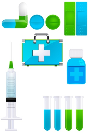 illustration of medical icons Vector