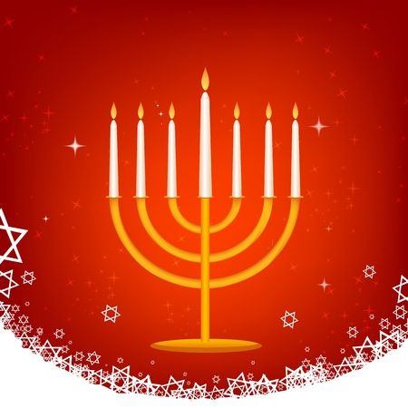 illustration of decorated hanukkah card Vector