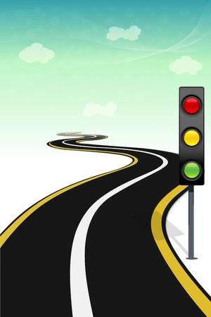 traffic signal: Illustration de fa�on avec feux de circulation Illustration