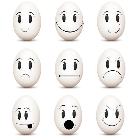 gesichtsausdruck: Abbildung Arten von Stimmung auf wei�em Hintergrund