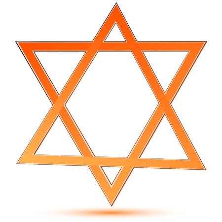 illustartion of star of david on white background Stock Vector - 8246862