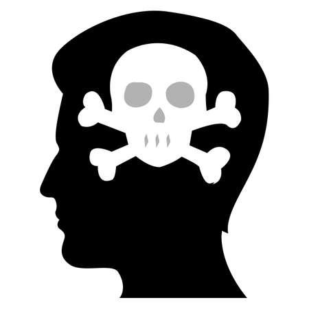 illustration of mans devil mind Vector