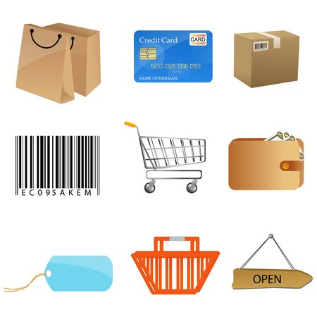 illustration of sales icons on white background Stock Vector - 8302761