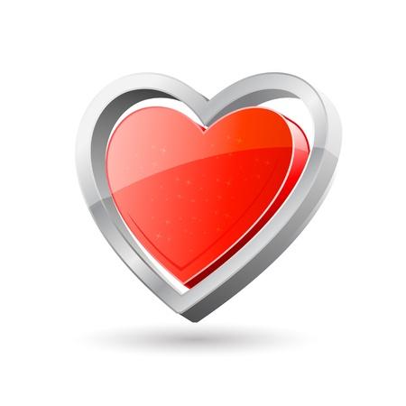 truelove: illustration of symbol of love on white background