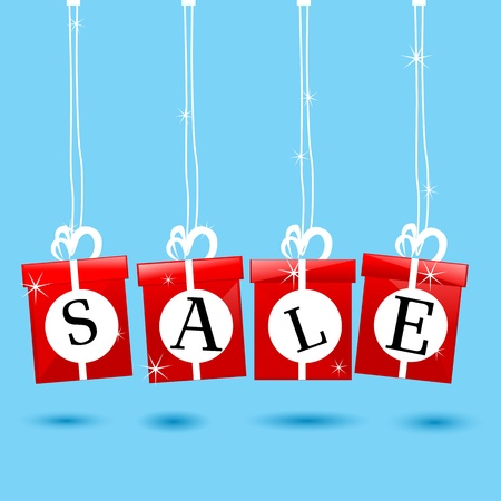 illustration of hanging sale icon Vector