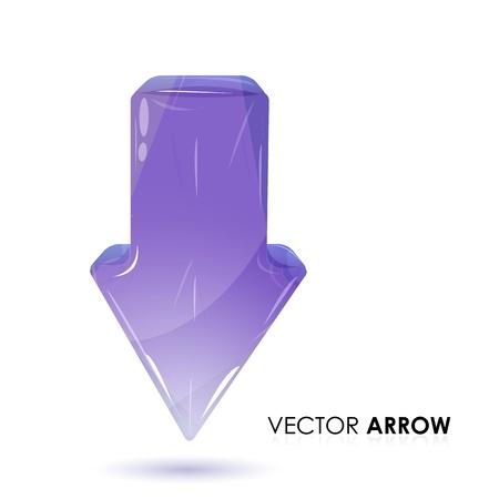downwards: illustration of   arrow on white background Illustration
