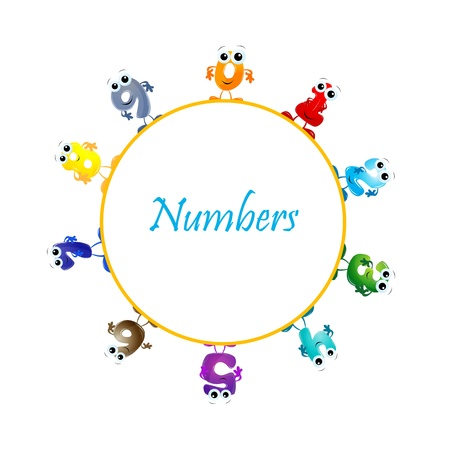 illustration of mathematical numbers on white background Stock Vector - 8302774