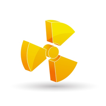 illustration of nuclear icon in white background Stock Vector - 8302603